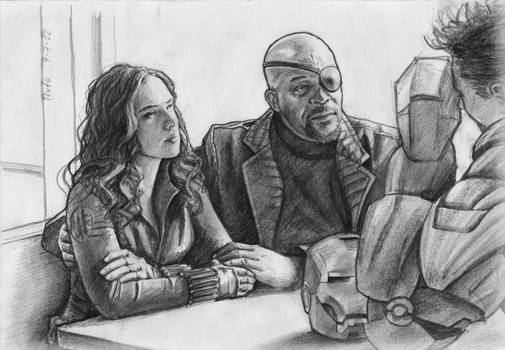 The Avengers: Nick Fury and Natascha Romanoff