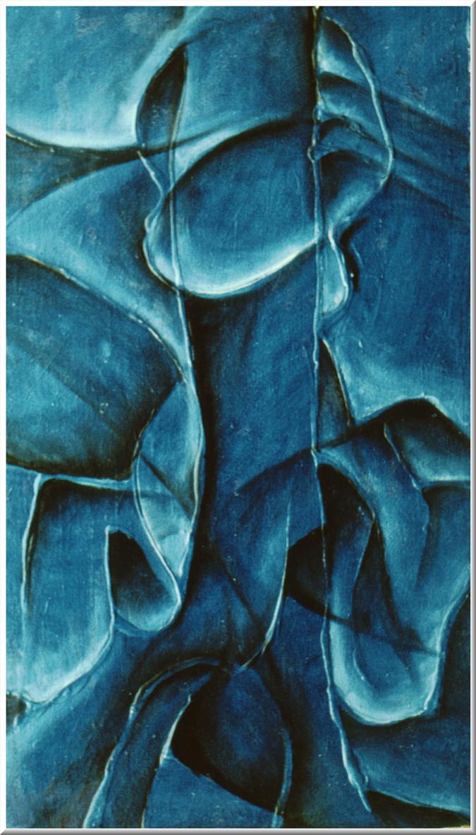 Portrait in blue by krtnik