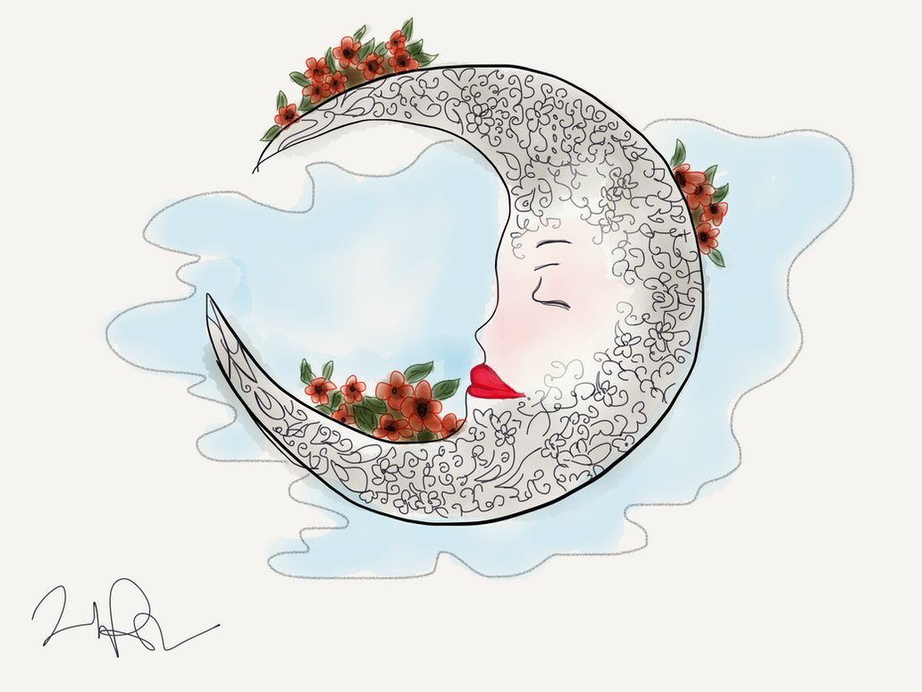 Sleepy Moon by Habnab7