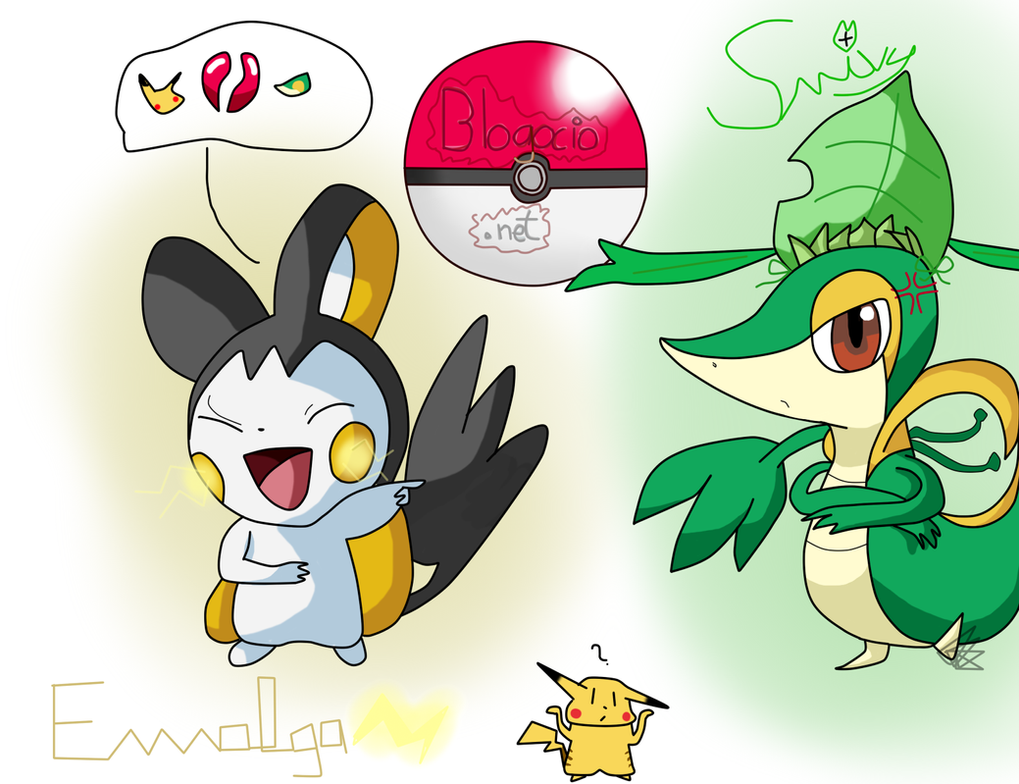 Pokemon Snivy Vs Emolga Images | Pokemon Images