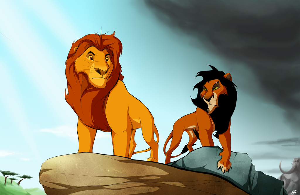 Mufasa and Scar by MissAudi