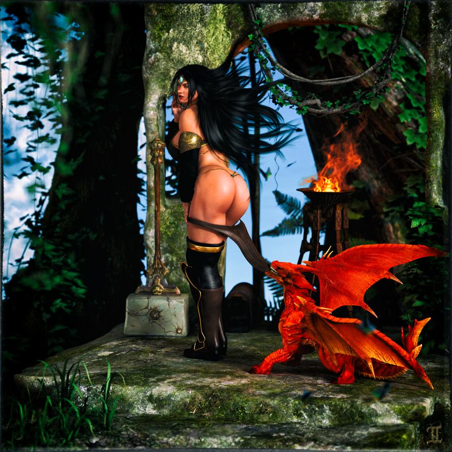 Lady Immolatasia's Dragon by ExGemini