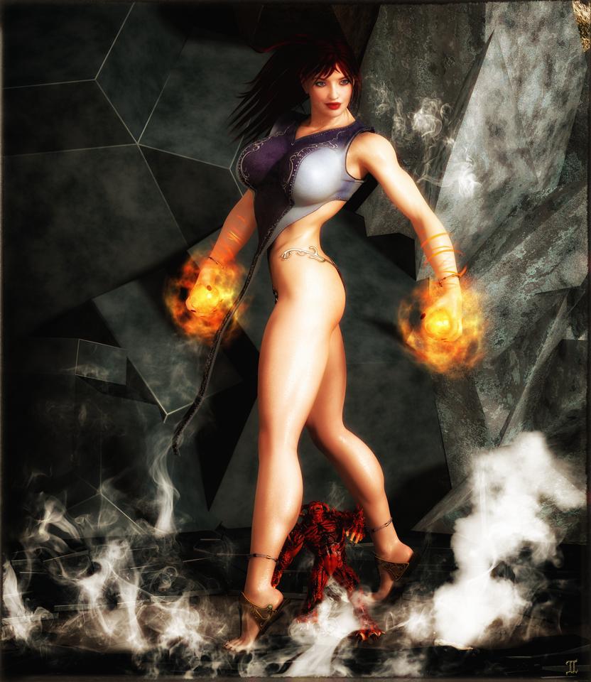 Cassandra The Pyromancer by ExGemini