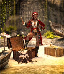 Pirate Queen Maia - Daz Version
