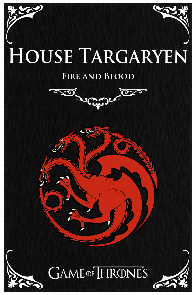 game of thrones house targaryen by stanxv on deviantart. Black Bedroom Furniture Sets. Home Design Ideas