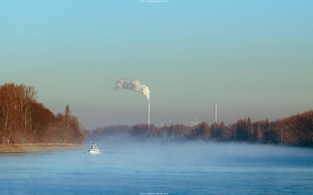 Fog on the Rhine 2560x1600 by hermik