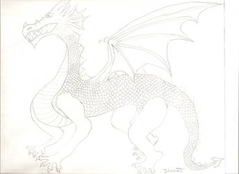 Random dragon drawing