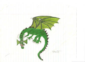 Green Dragon Drawing
