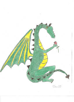Dragon with Rose