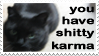 It's not the cat...stamp by Pantherartist