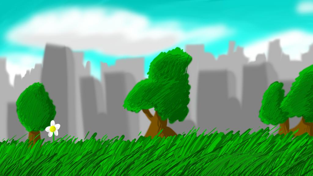 City background test by TanookiDX