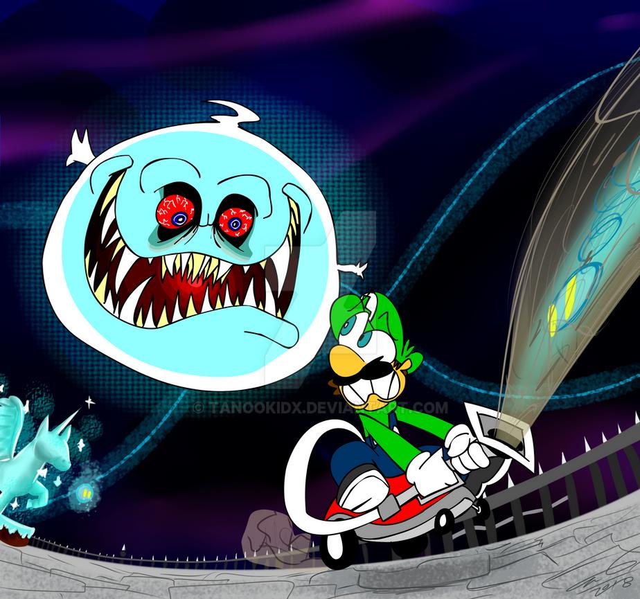 Luigi Vs. Boolossus by TanookiDX