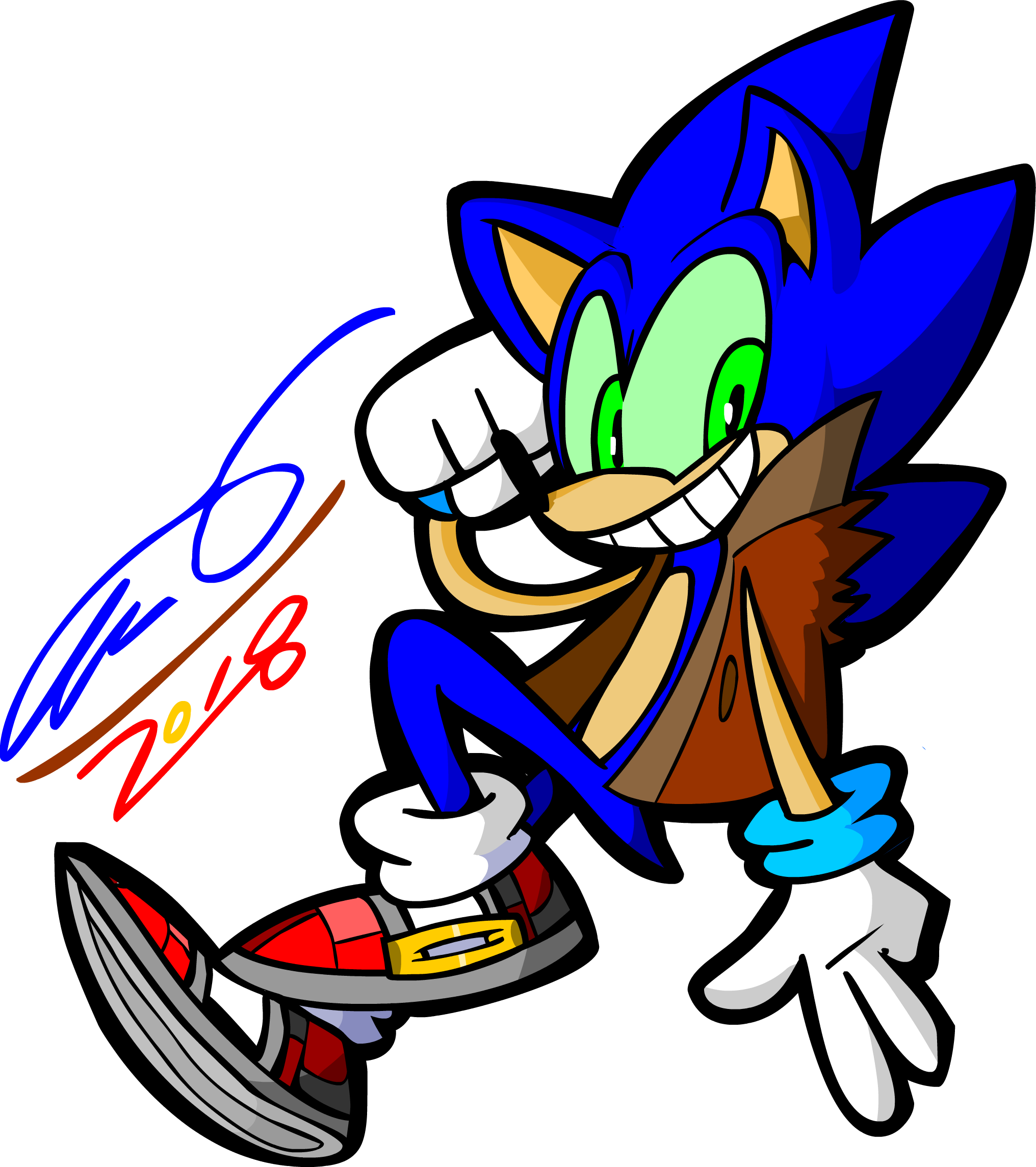 Sonic Render with signater by TanookiDX