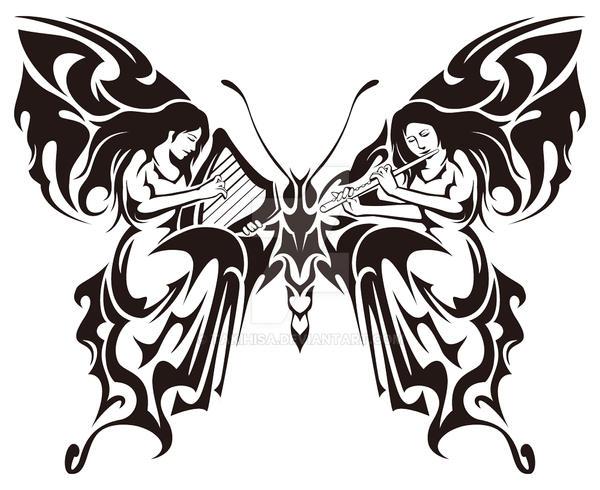 tribal butterfly drawings - 900×734