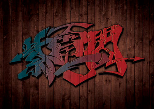JAPANESE KANJI GRAFFITI SHIDENISSEN
