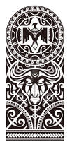 Maori and Polynesian style mix tribal.