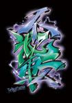 Japanese KANJI Graffiti HUTAITEN