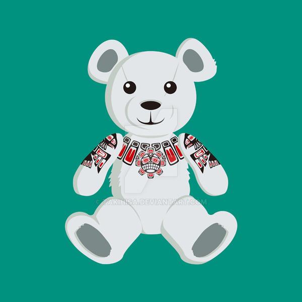 Haida tattooed teddy bear by Takihisa