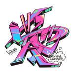 Japanese Kanji Graffiti Ai (Love)