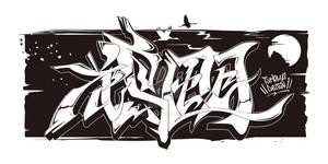 Japanese KANJI Graffiti KACHOUHUUGETSU 2019