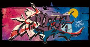 Japanese KANJI Graffiti KACHOUHUUGETSU