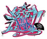 Japanese KANJI Graffiti Byan