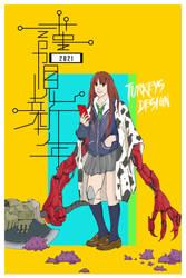 Cyberpunk Girl (New Years Card 2021)
