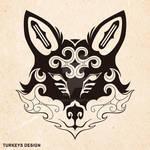 Tribal Fox (Ainu style tribal) by Takihisa