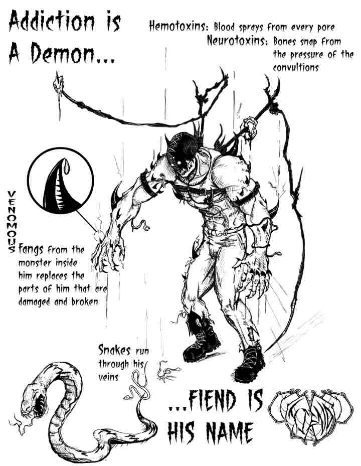 Addiction Is A Demon... His name is FIEND by FiendArt on DeviantArt