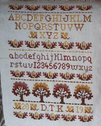 Cross Stitch Collection Oct/Nov '94 - Oak Sampler