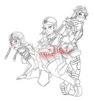 Role reversal spanking zelda by panpraiser