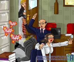 Big butt teacher spanked by panpraiser