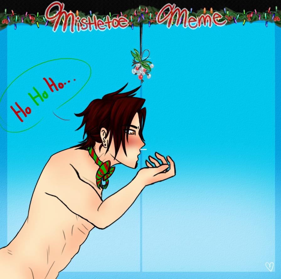 Mistletoe Meme: Zak by ask-cyclone