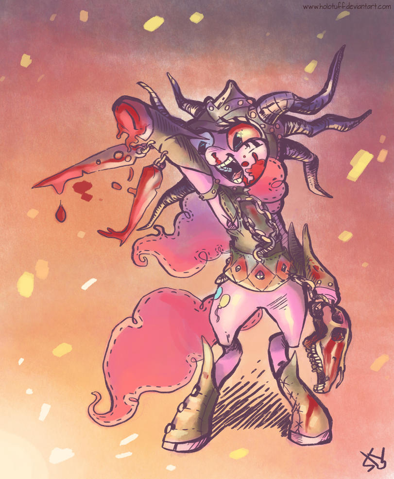 Gathering is Magic: Rakdos Blood Witch Pinkie Pie by Holotuff
