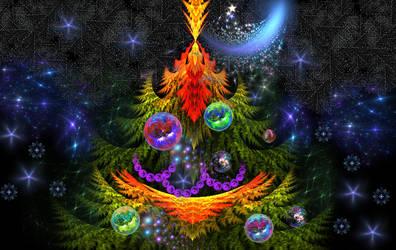 Merry Christmas   Apophysis by Iwuchska
