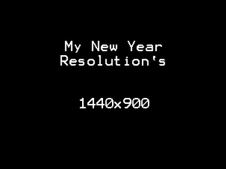 New Year Resolution by Grixis