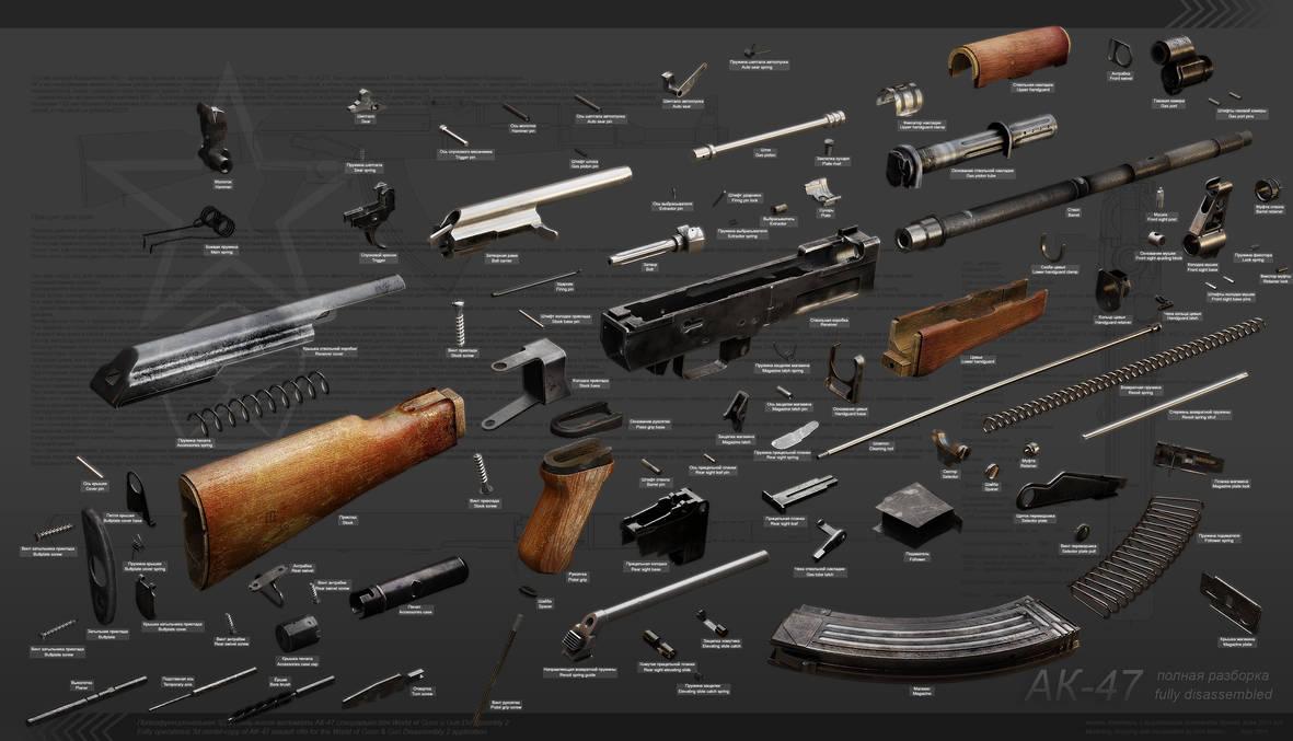Ak-47 explosion diagram by RenderDock on DeviantArt on