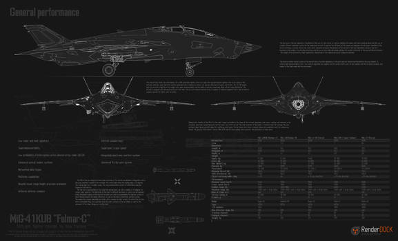 MiG-41 general specifications