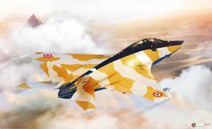 MiG-41 over desert