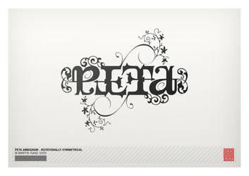Peta Ambigram by MartinIsaac