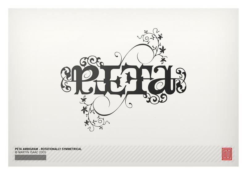 Peta Ambigram by MartinIsaac