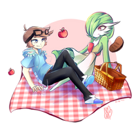 {R} Treeaudix and Gardevoir by IsoChi