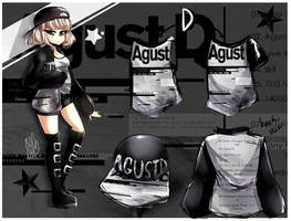 [D] Agust D Themed Design {//SPEEDPAINT\\} by IsoChi