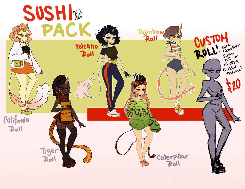 ~Sushi-Kirin Adopts Batch~ PAYPAL ONLY by IsoChi