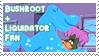 Bushroot and Liquidator Stamp by Cheeezey