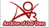 Archive of Our Own Stamp by Cheeezey