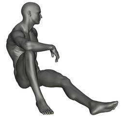 Male Seated Reference 1