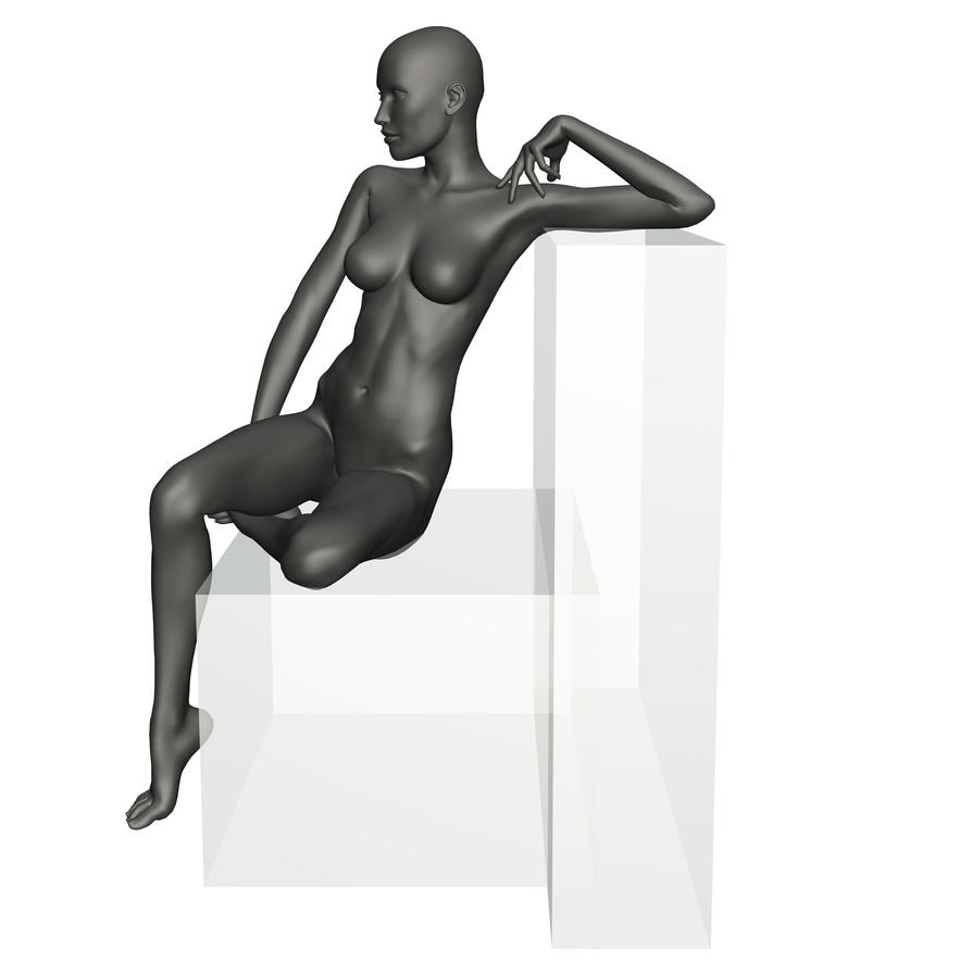 Female Seated Reference 3 by posevault