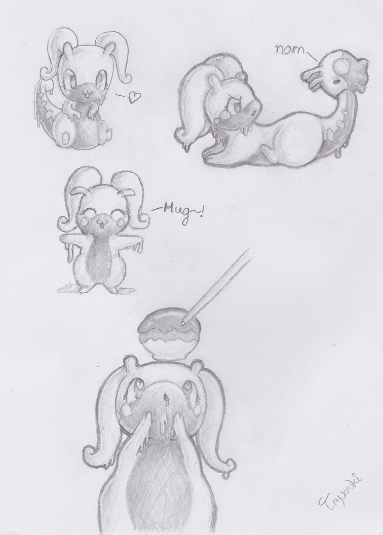 Goodra Sketches by StuffedPolarFox