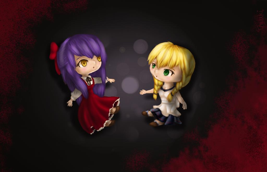Ellen and Viola by StuffedPolarFox
